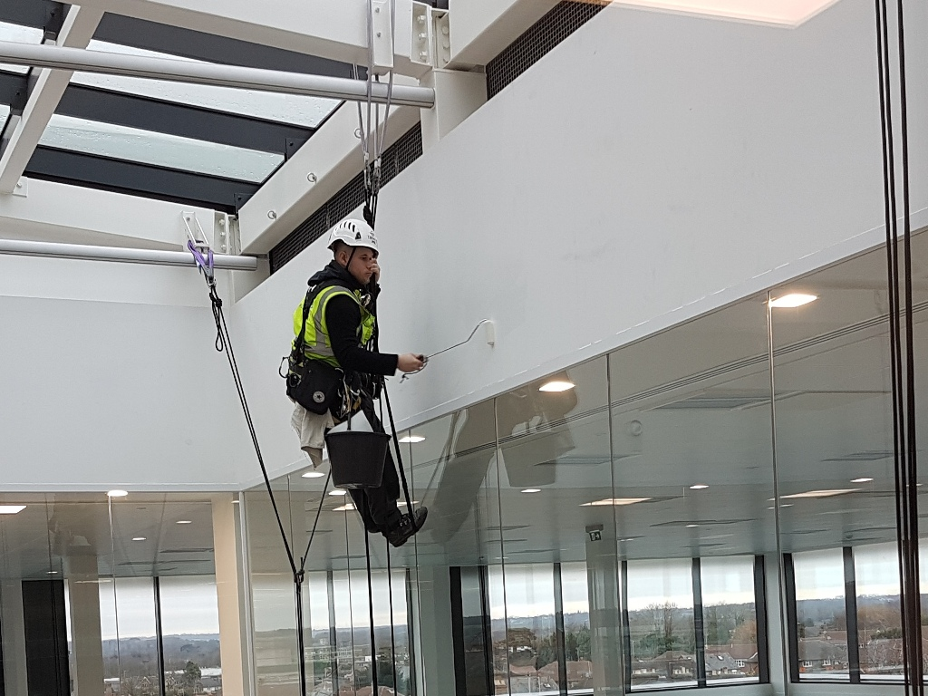 rope access interior painting