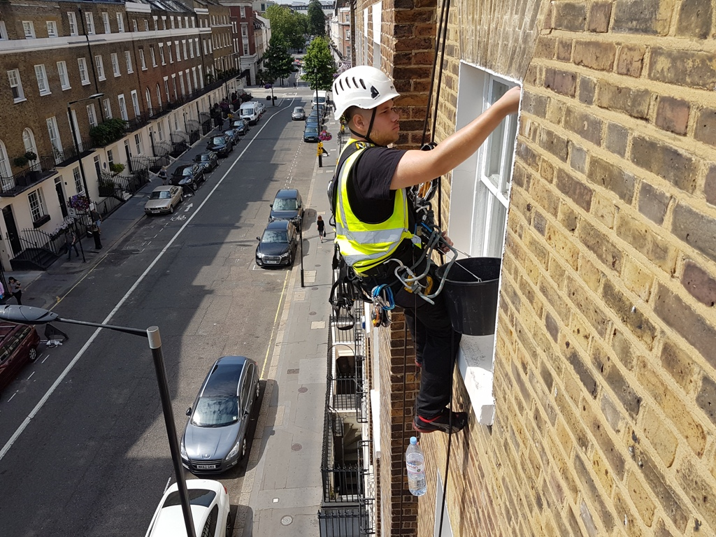 residential building painting rope access