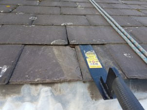 abseiling leaking slate repair