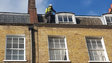 leaking roof repair abseiling
