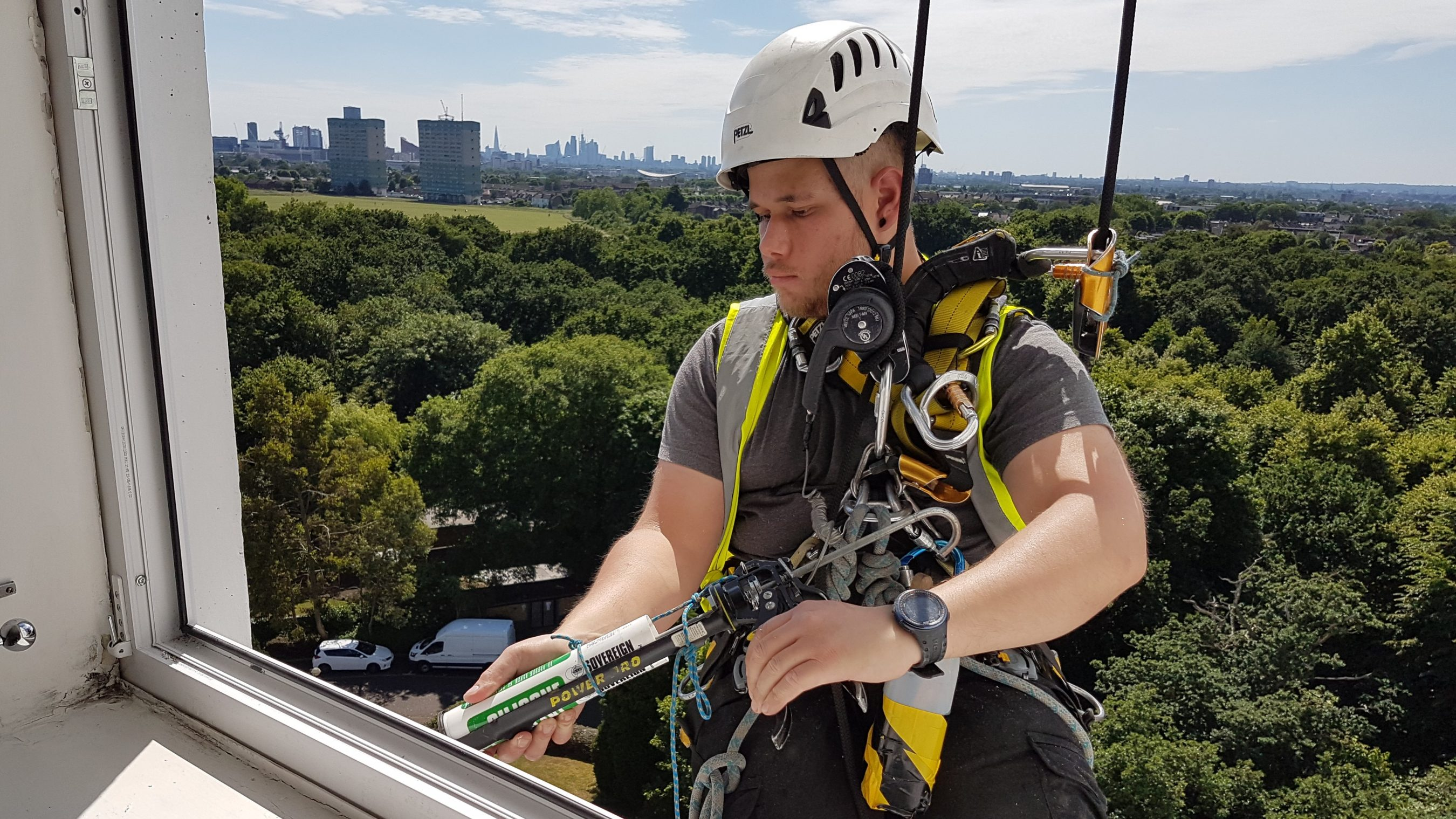window masticing rope access