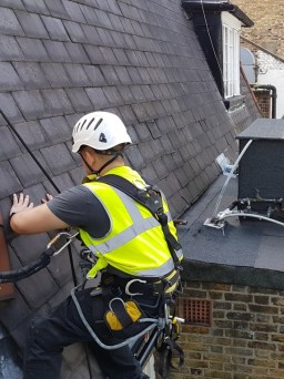 rope access slate roofing