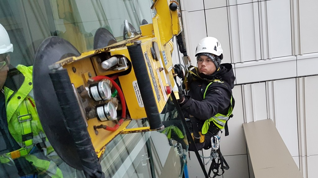 structural glazing rope access