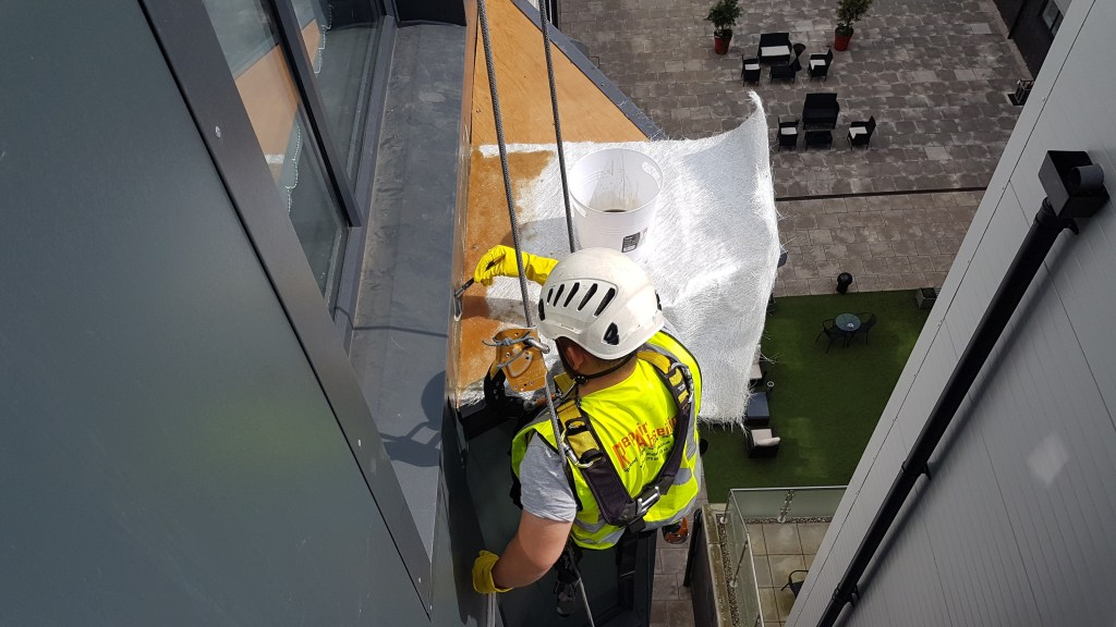 abseiling grp roof