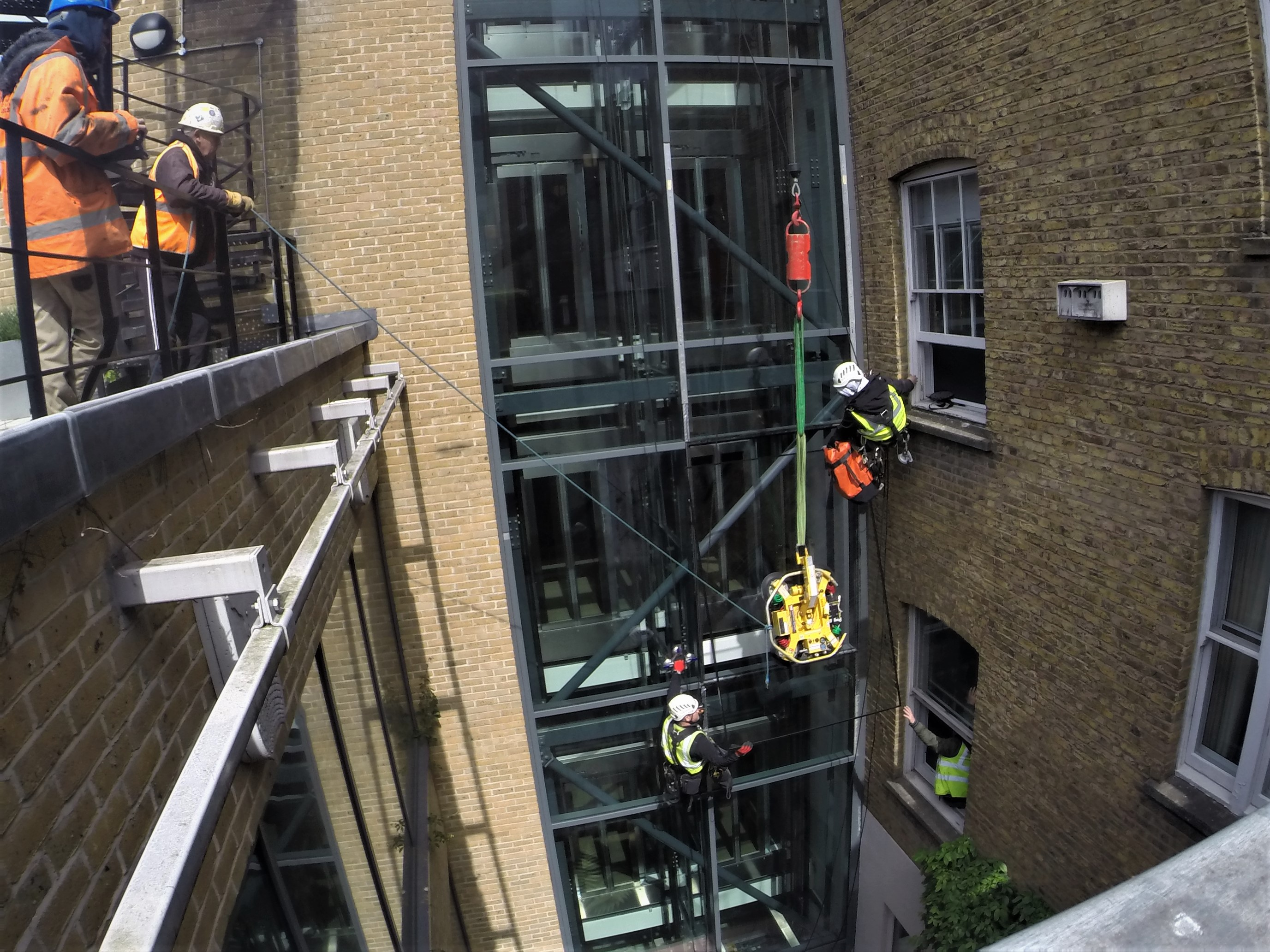 high level glazing repairs