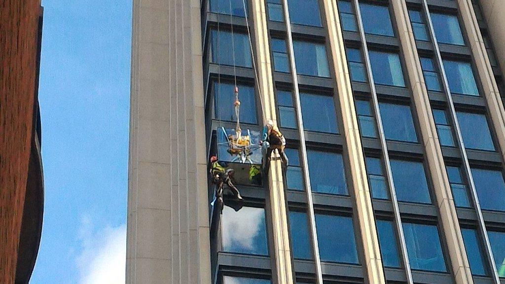 high level tower block glazing repairs
