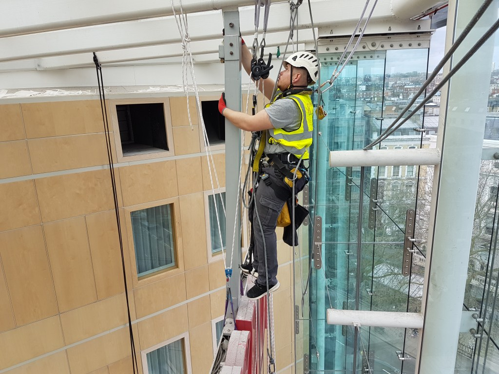 rope access signage removal