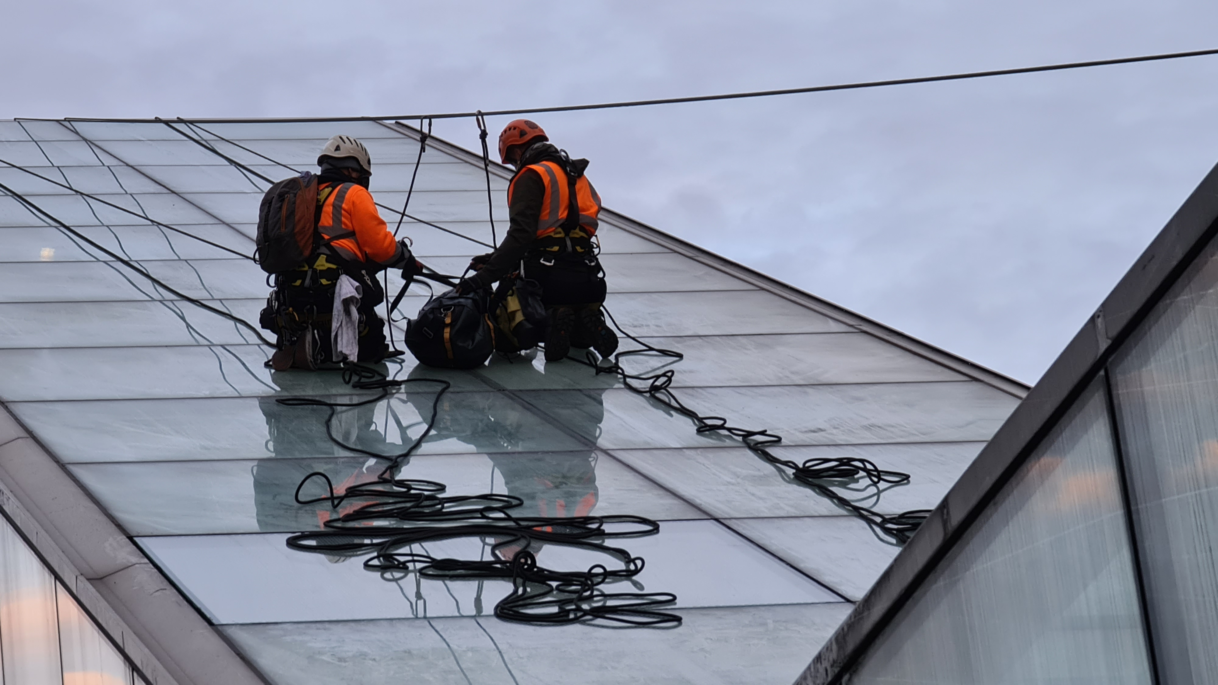 high level skylight glass replacement