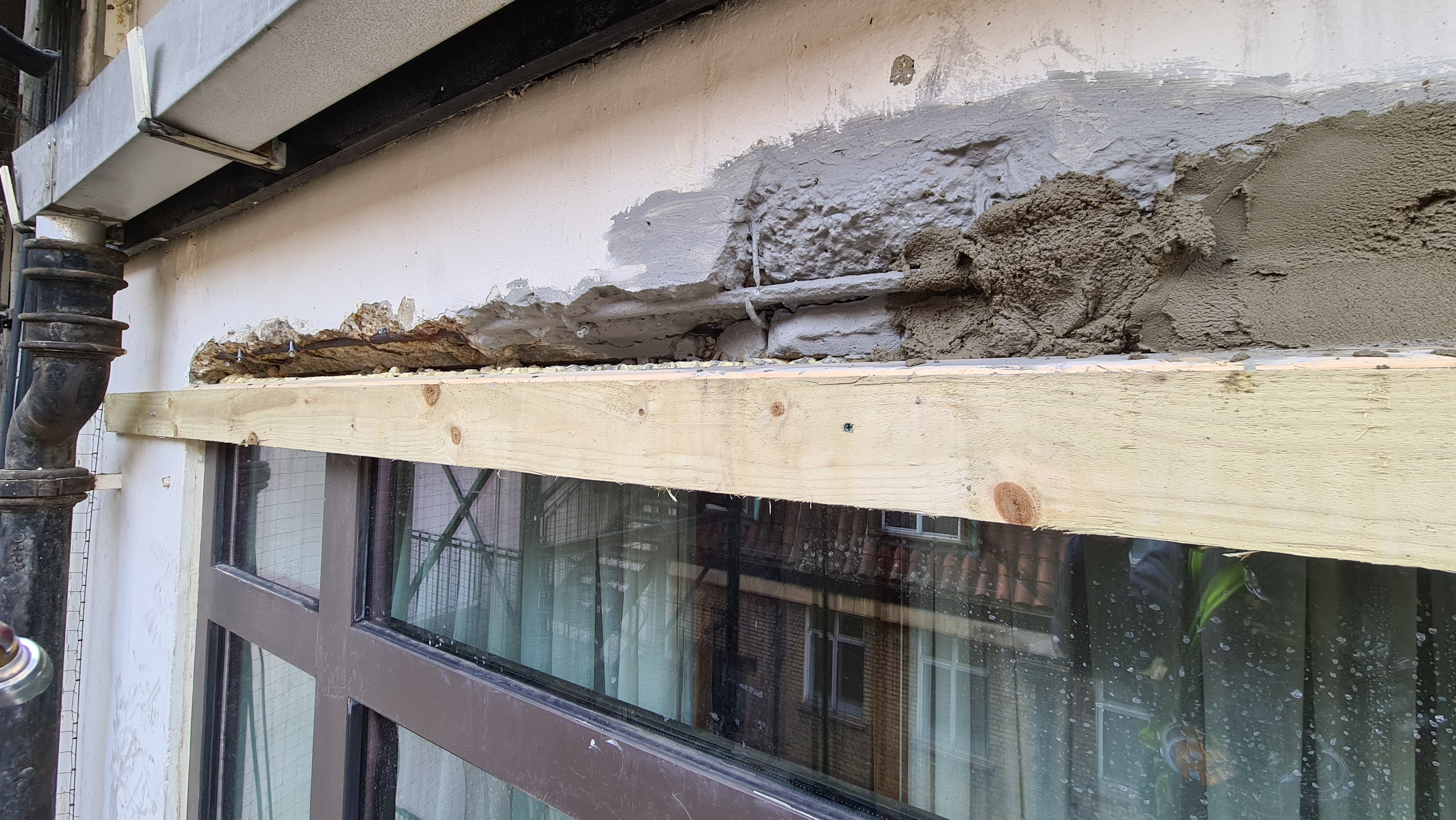 rope access concrete repair rendering