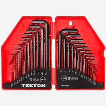 TEKTON Hex Key Wrench Set, 30-Piece