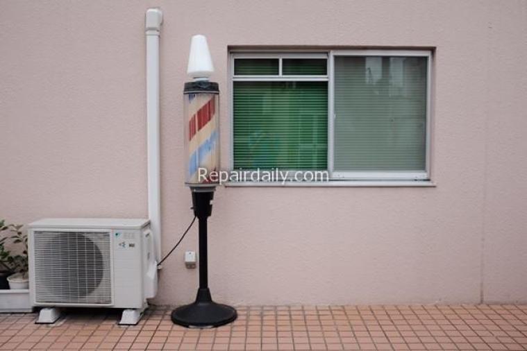 air conditioner in balcony