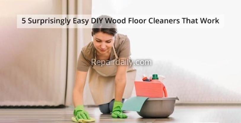 diy wood floor cleaners