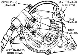 12 Si 1 Wire Alternater Conversion together with Nd Alternator Wiring Diagram furthermore Gm Delco Voltage Regulator Wiring Diagram together with Gmc Truck Wiring Diagram For 90 also 485791 Temporary Alternator Wiring. on delco alternator cs130 wiring diagram