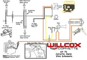 19691970 Corvette Corvette Wire Schematic Alarm System | Willcox Corvette, Inc