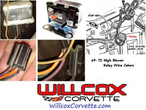 19691972 Corvette High Blower Relay Wire Color And
