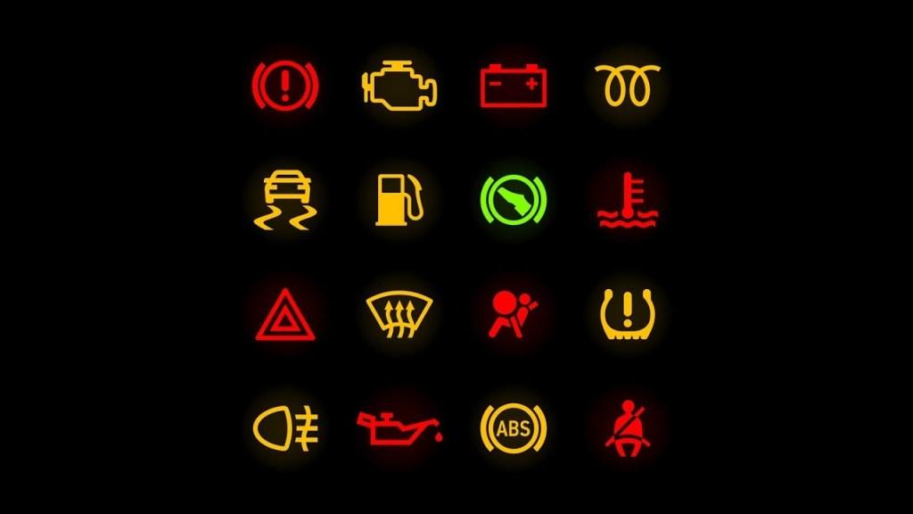 Luces cuadro coche, Símbolos tablero