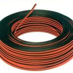 Cable rojo y negro.