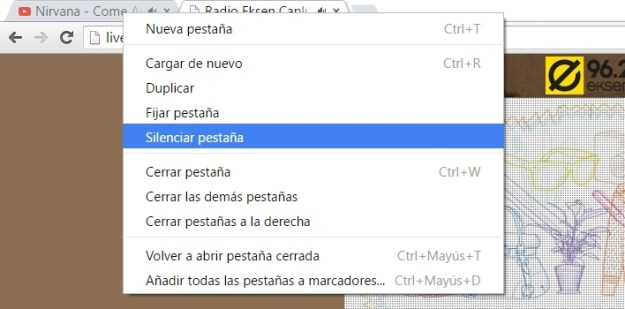 Silenciar pestañas en Chrome