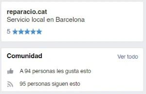 Síguenos en Facebook - Reparacio.cat
