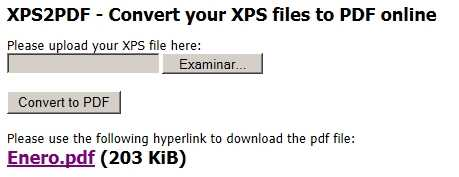 XPS a PDF online