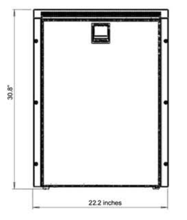 Size dimensions of the Cruise 130 Fridge