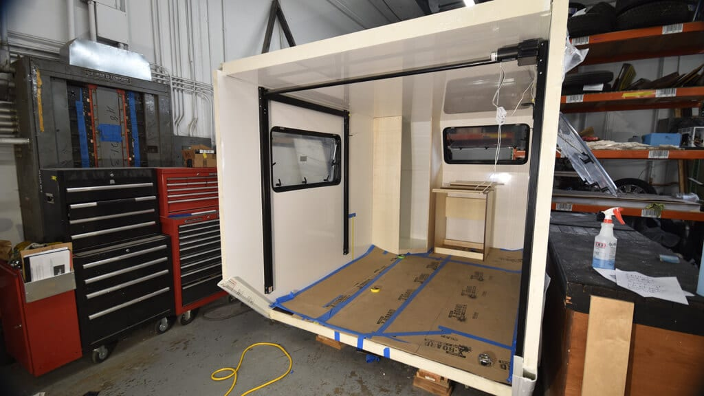 image of custom unimog custom box made of polyurethane foam with high-gloss fiberglass-reinforced plastic from Total Composites