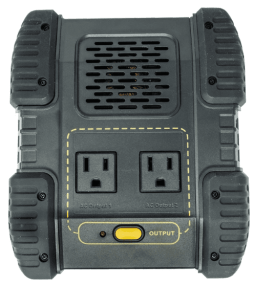 Lion Energy Portable Power Unit AC Output on/off button