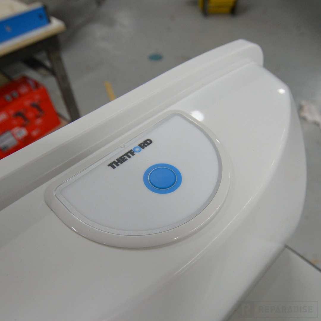 Cassette toilet flush button