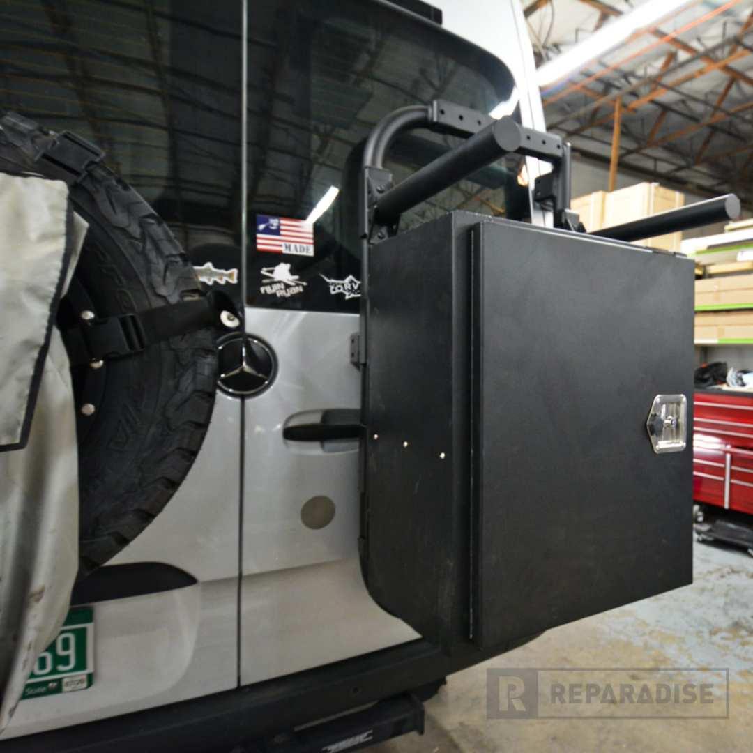 Owl Van B2 Bike Carrier and Cargo box on Sprinter