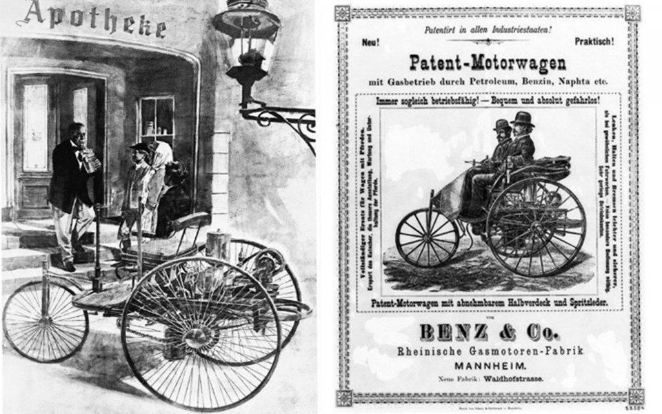 panfleto do primeiro carro do mundo
