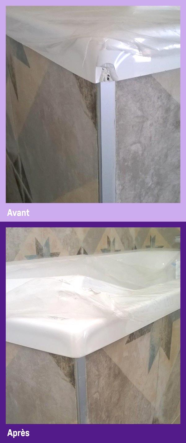 Réparation baignoire et menuiserie pvc et alu par Gailhard Création de Saint Sulpice