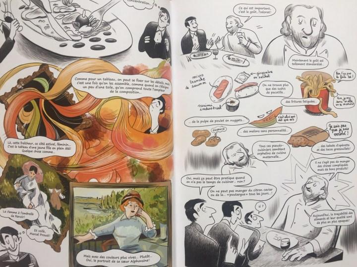 Guillaume à la rencontre d'Alain Dutournier. Sacrés Chefs, page 50-51