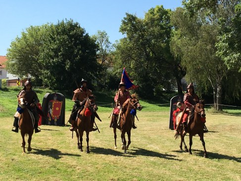 The riding demonstration is the highlight. The riders are Mongolian.