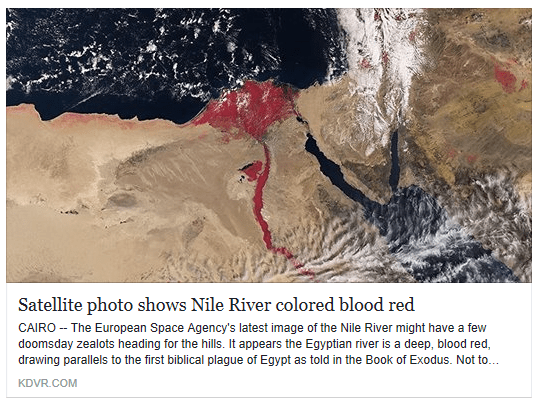 Image result for Why Does Nile Appear Blood-Red In This Satellite Image