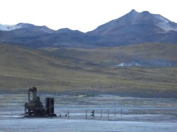 Ancienne station géothermique au Geyser del Tatio