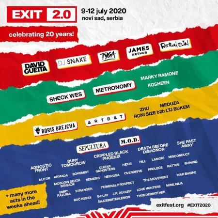 EXIT 2020 Festival 2.0 Festivali