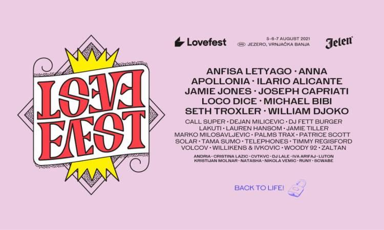 Lovefest 2021 Festival Vrnjačka Banja