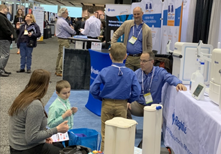 RephiLe's American crew participated in Pittcon 2020, showcasing RephiLe Genie water purification systems with latest smart & cool dispensers.