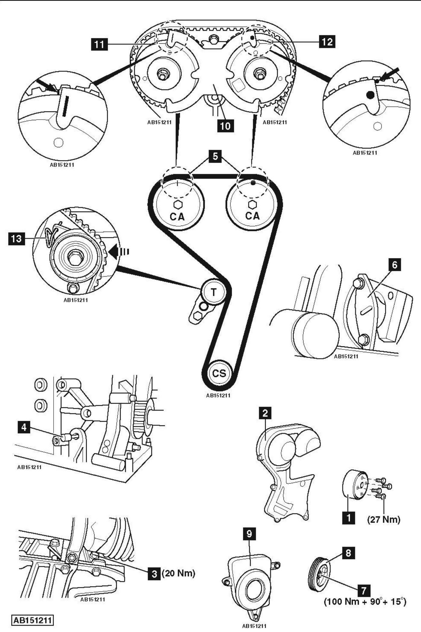 Service Manual How To Replace Timing Belt Ford Focus