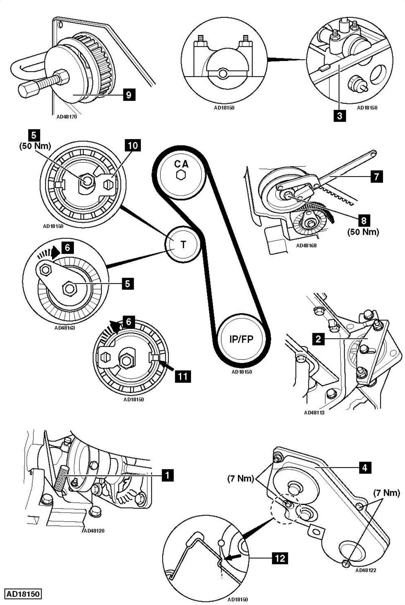 Replace Timing Belt Ford Transit Connect 1 8d Tdci