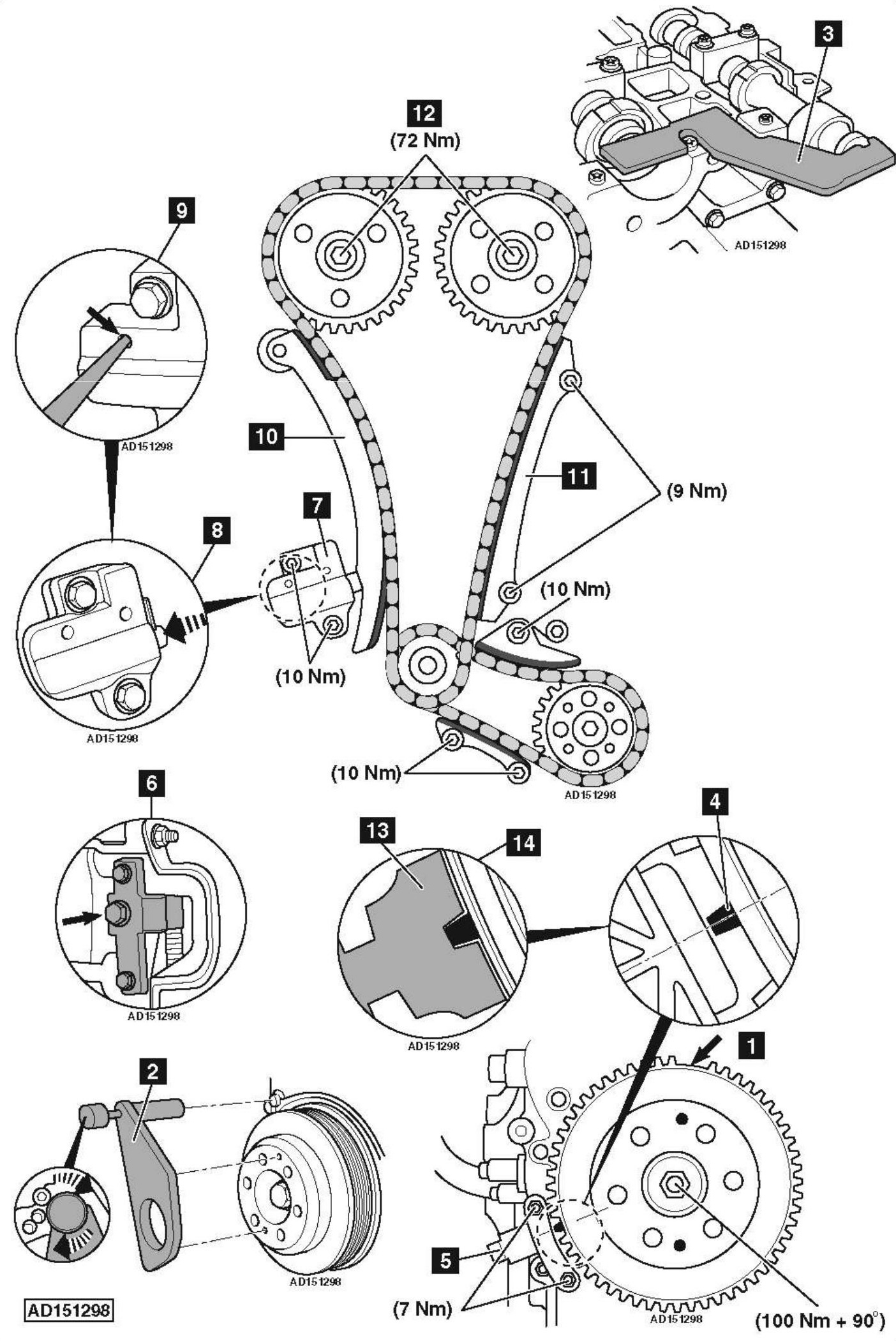 Service Manual Land Rover Range Rover Timing Chain