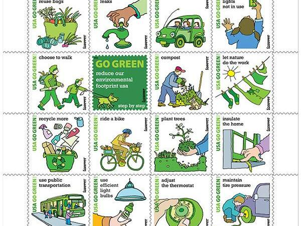 I'm loving these new Go Green stamps!!