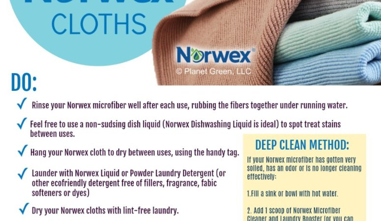 How do I wash Norwex? Norwex Cloth Care Instructions