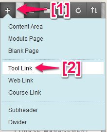 Blackboard Add Tool Link