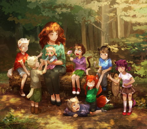 Nina + the rest of the cast as little kids~!