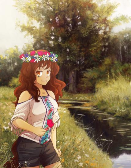 Nina at the meadow