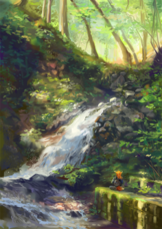 A simple sketch but I like how it turned out :) Ada's forest adventures~