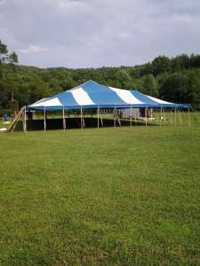 Big Tent Going Up at Replenishfest 2015