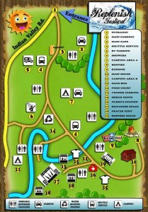 2016 Replenish Festival Map