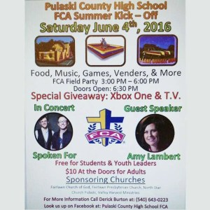 Pulaski County High School FCA Summer Kick-Off